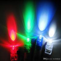 100 יח'\חבילה פופולרי הניצוץ טבעת טבעות אצבע LED לייזר אור ציוד קונצרט מופע מסיבת KT106
