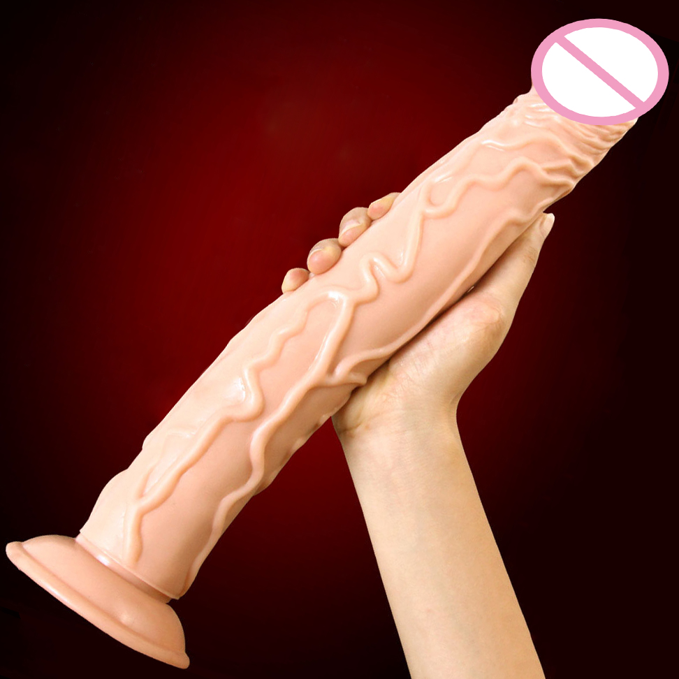 Super Long Huge Dildo Suction Cup Realistic Penis Large Dick Sex Toys For Woman Giant Big Soft Dildo Horse Dildos For Women howosex 26 8cm super huge dildo realistic large dildo g spot strong suction cup big penis flexible dick anal sex toy for woman