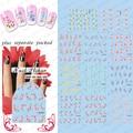 Beautynailart 90 UNIDS/LOTE BLE1203-1279 Flores Nail Art Sticker Decoración de la Etiqueta engomada DIY Etiqueta de Transferencia de Agua