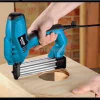 Efficiency fastest electric nail gun.Impact force adjustable,both U nail T dual.household power tool.