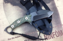 American kami DC53 Gray Hunting Knife Survival Knives Fixed Blade G10 Handle Good Sharpest