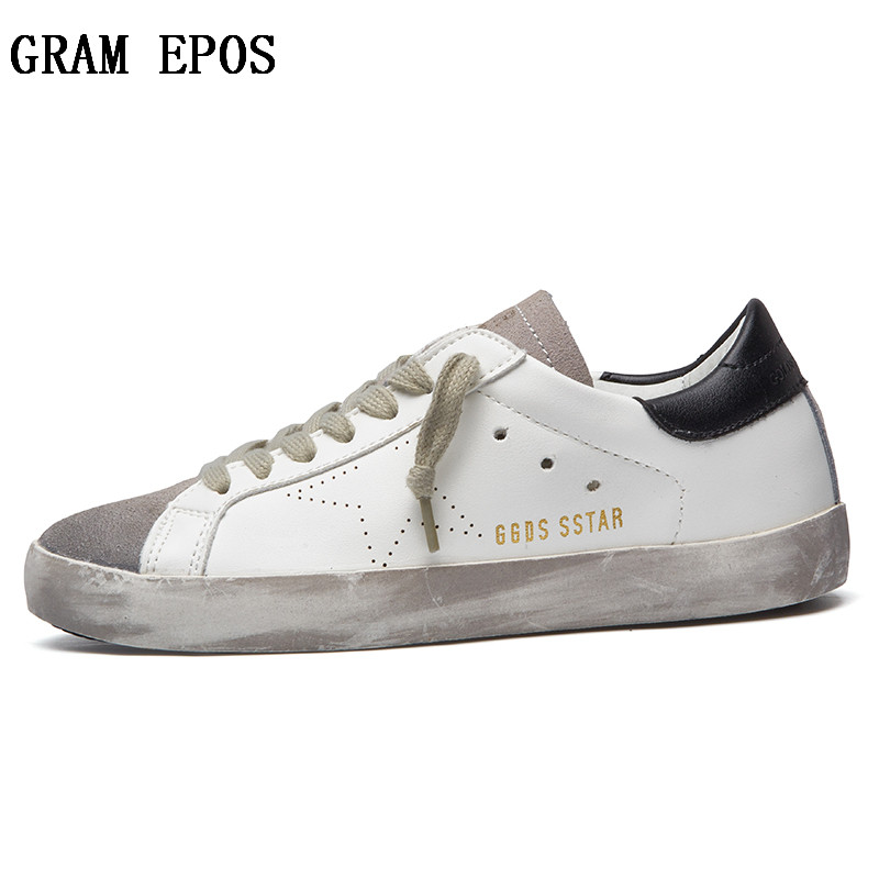 GRAM EPOS New 2018 Fashion Famous Brand Luxury Shoes For Men's Casual Shoes Leather Men Golden Dirty Homme Breathable Male Flats woman evening bag women diamond rhinestone clutch crystal day clutch wallet wedding purse party banquet gold silver