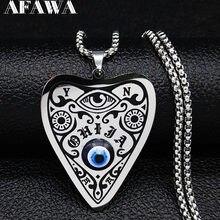 Wicca – colliers en acier inoxydable pour femmes, chaîne argentée, étoile, lune, soleil, N56702, 2021