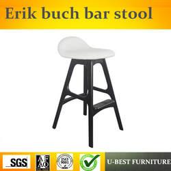 Бесплатная доставка U-BEST Реплика Эрик бух твердый деревянный барный стул, Nordic гостиничной мебели античный стул современные деревянные, из