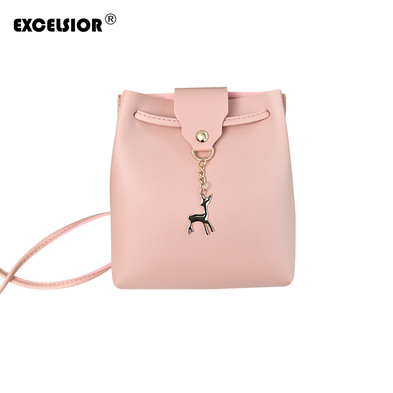 EXCELSIOR Deer women Bag HOT SALE 2018 Women Messenger Bags Fashion lady crossbody Mini Bag Women Shoulder Bags Sac a Main