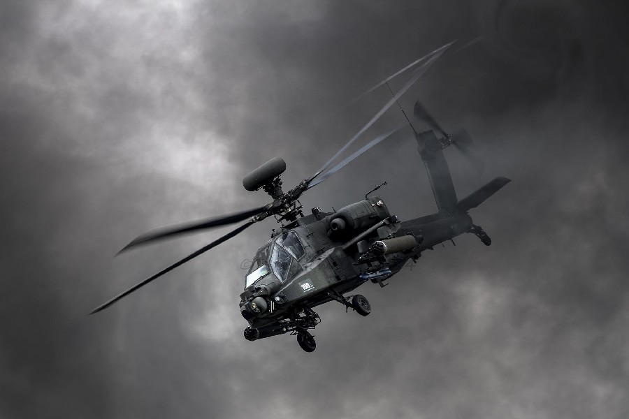 Boeing Apache AH-64d Military War Helicopters poster Print silk Fabric art Wall Decor 12x18