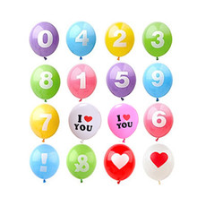 20 Pcs Number latex Inflatable Balloons 0 9 Wedding Happy Birthday Decoration Air Balloons Party Balloon