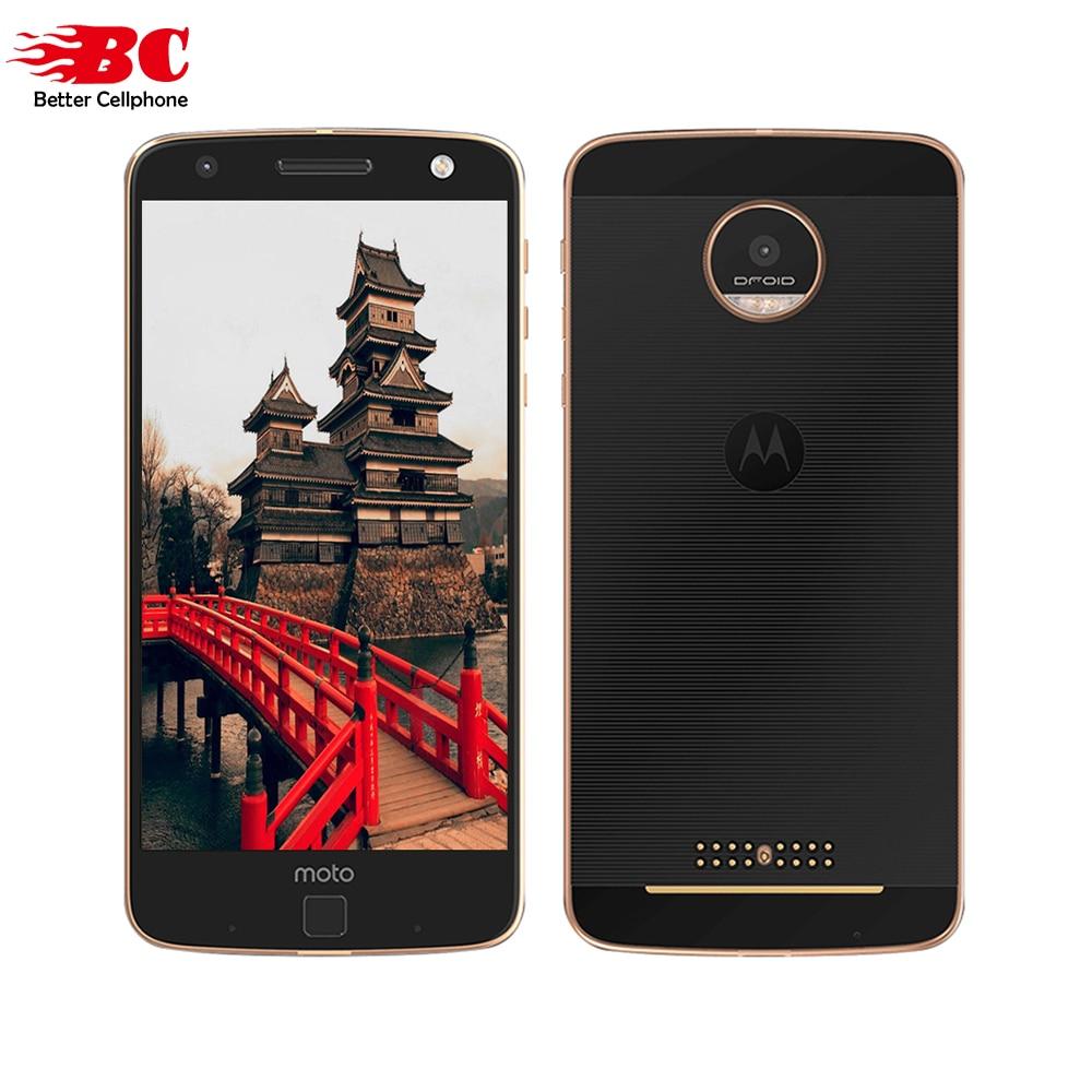 Galleria fotografica D'origine Motorola MOTO Z XT1650 Quad Core 64bit <font><b>Smartphone</b></font> 4 GB RAM 64 GB ROM 4G LTE 5.5 pouce 2560X1440 Android 6.0 13.0MP 2600 Mah