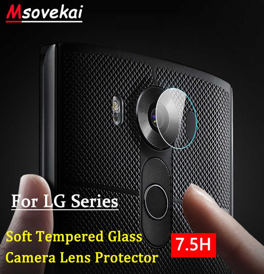 Dla LG V40 ThinQ G7 ThinQ G6 LG V10 V20 V30S V35 ThinQ aparat z tyłu z kloszem z hartowanego szkła przezroczysty folia zabezpieczająca ekran