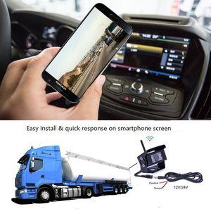 Image 3 - Автомобильная камера заднего вида Podofo, водонепроницаемая камера заднего вида с функцией ночного видения, 28 ИК, Wi Fi, для iPhone и Android