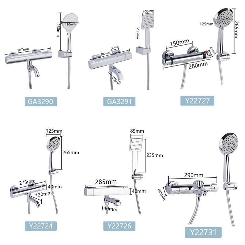 GAPPO Bathtub Faucets thermostatic shower faucet bathroom bathtub faucet taps waterfall shower head set bath shower mixer set