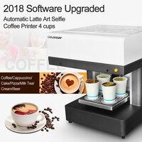Automatic 4 Cups Coffee Printer Selfie Edible Ink Printer Coffee Cake Latte Art Beverage Printing Machine Fast Speed Printing