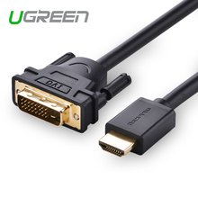 Ugreen HDMI to DVI Cable for Xiaomi TV Box Android HDMI Adapter 3D 1080P for LCD DVD Player HDTV Xbox Game PS3 Converter Cable
