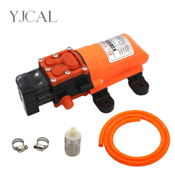 12V DC Electric Spray High-pressure Self-priming Diaphragm Wash Car Water Pump Flow 4L/minutes miniature electric diaphragm pump pressure switch car wash sprayer self priming 12v60w threaded interface direct port