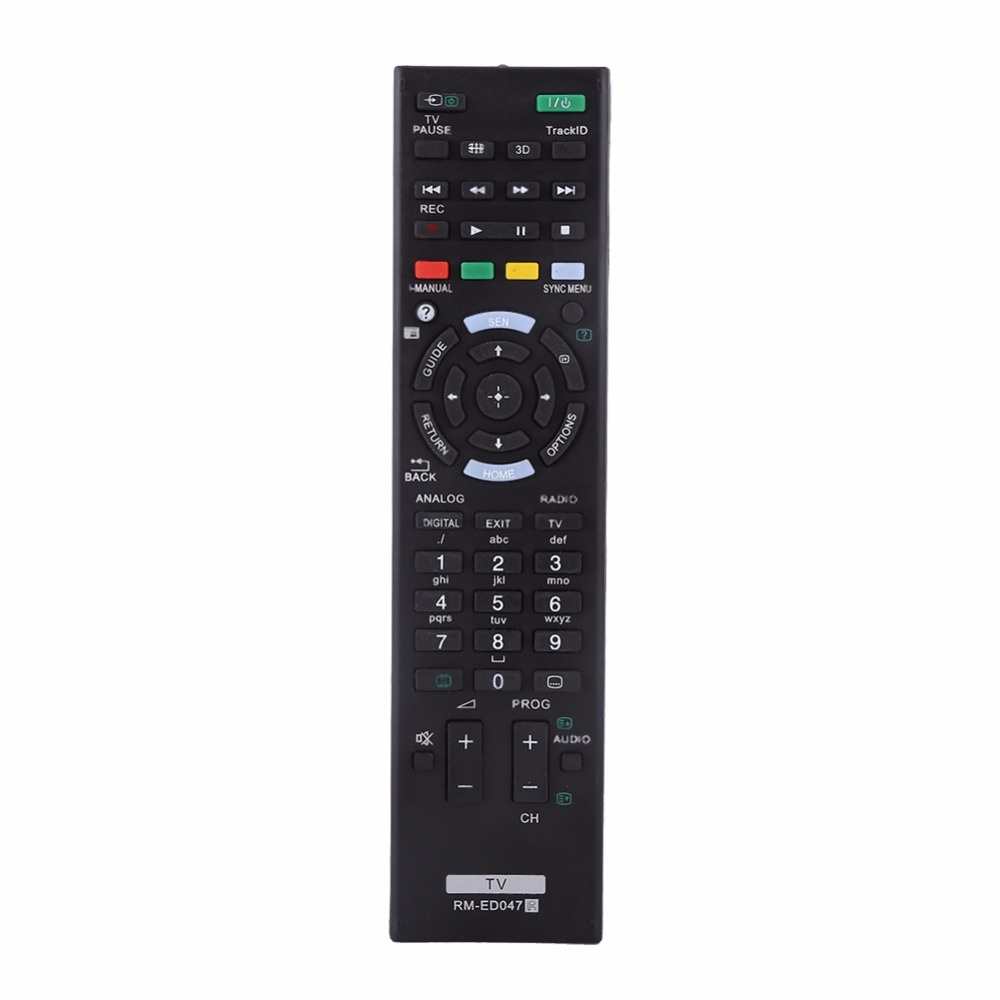 Fashionable Smart TV Remote Control Replacement Controller For Sony LCD LED RM-ED047 genuine hongdak rm s1am 1 2 lcd wired remote control camera timer for sony alpha dslr a100 more