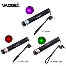 Hunting Laser Pointer Pen Light G301 Purple/Green/Red High Power 5mw 532nm 10Mile Far Visible Burning Beam Burn Lazer+Safety Key(China)