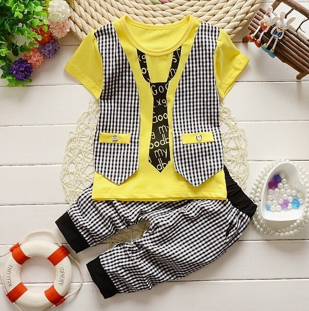 8acc5d519506 BibiCola 2016 Baby Boy outfits Clothes set Toddler Boys summer ...
