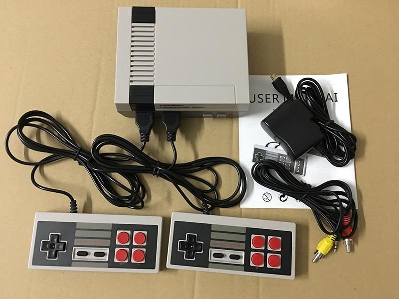 Neue Retro Mini TV Handheld-konsole Videospiel-konsole für Nes Spiele Mit 2 Controller Eingebaute 600 Klassische Spiele PAL und NTSC