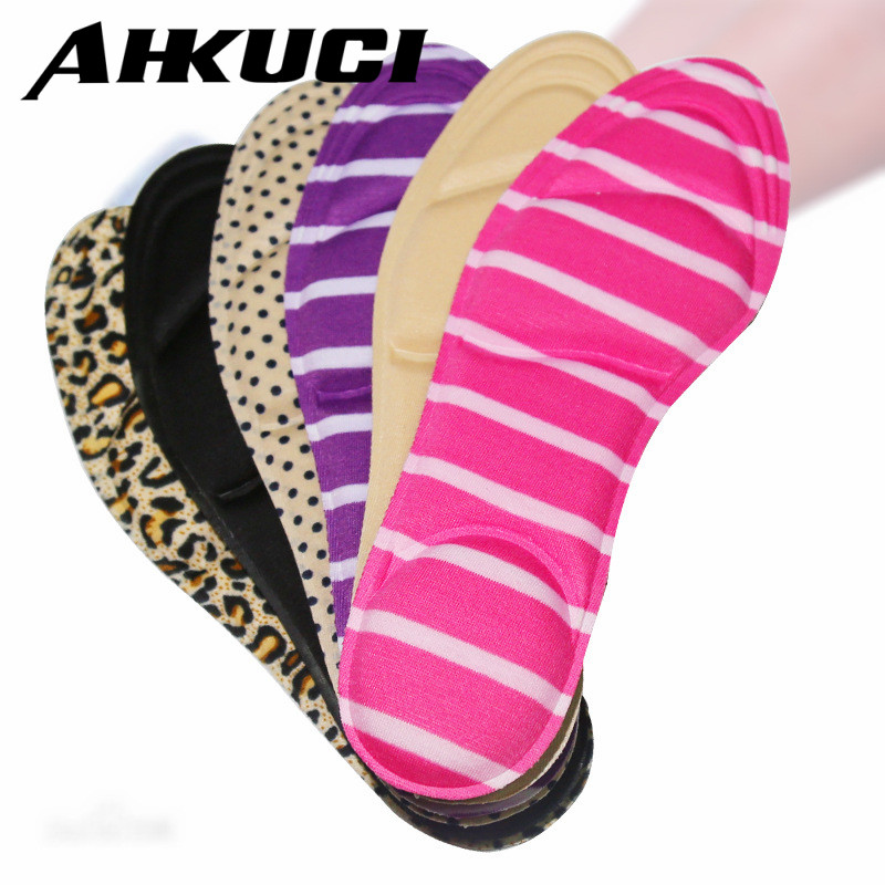 10 pair Women High Heels Sponge 3D 4D Shoe Insoles Cushions Pads DIY Cutting Sport Arch Support Orthotic Feet Care Massage 1 pair soft insoles instant comfort shoe arch support high heels leopard print