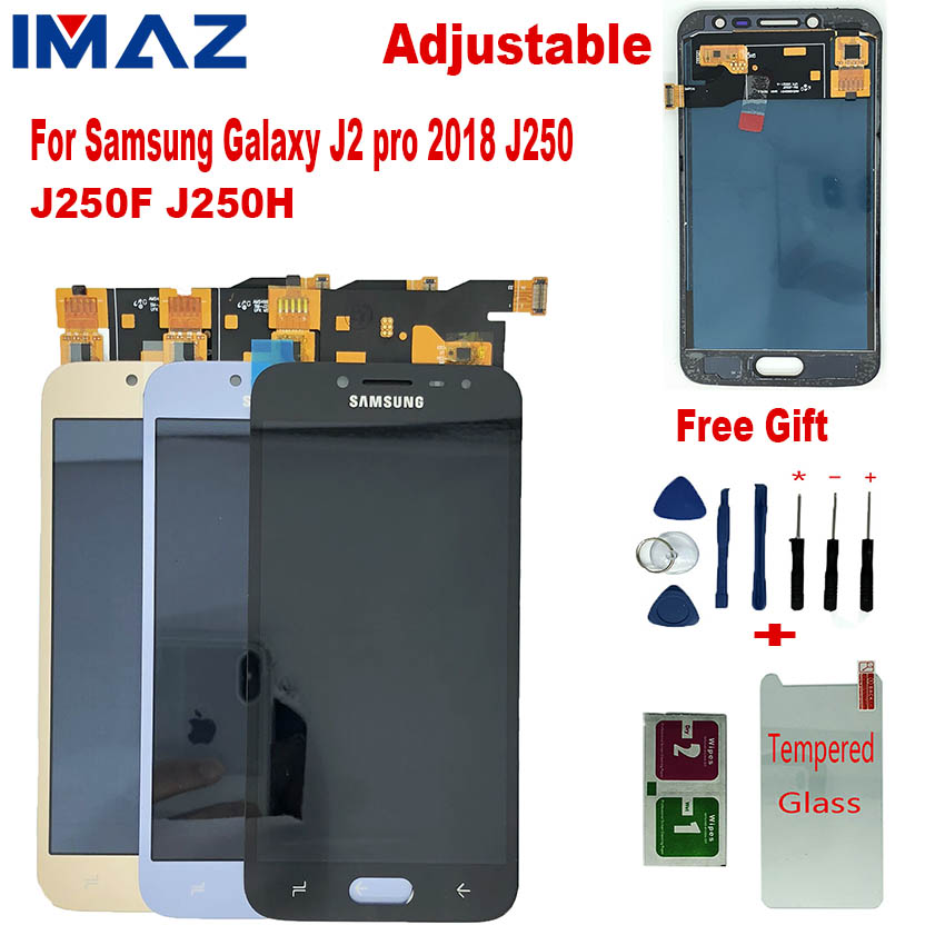 IMAZ Adjustable LCD For <font><b>SAMSUNG</b></font> <font><b>Galaxy</b></font> <font><b>J2</b></font> Pro <font><b>2018</b></font> J250 <font><b>J250F</b></font> J250G Lcd Display Touch Screen Digitizer Assembly For <font><b>SM</b></font>-J250 LCD image