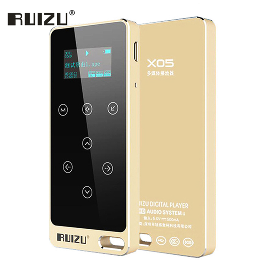 Ruizu Touch Portable Lossless Digital Sport Screen Hifi Audio Mp 3 Mini Music Mp3 Player 8GB FM Radio With Flac LCD Running Aux ruizu x09 portable mp3 music player 4gb for running