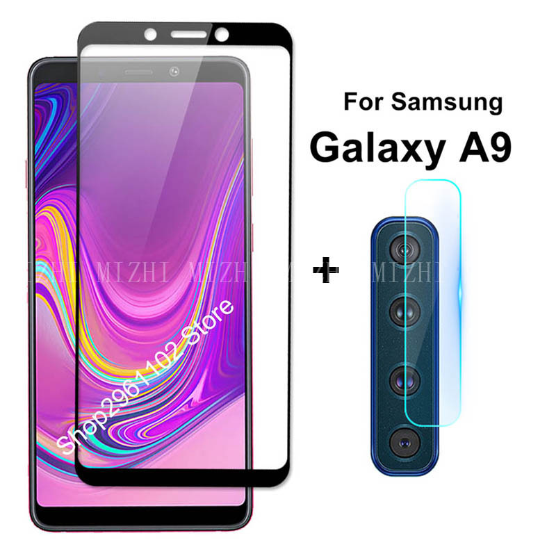2 In 1 Tempered Glass For Samsung Galaxy A9 2018 Back Lens Glass For Samung Sumsung Galax A 9 9a 2018 A920 Camera Protector Film