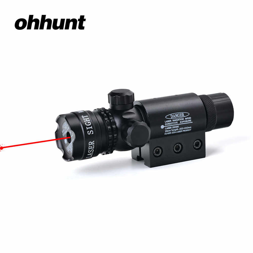 Ohhunt Tactische Jacht Schieten Rode Laser Sight Scope Riflescope voor Rifle Scope Rail Barrel Mount met Remote Drukschakelaar