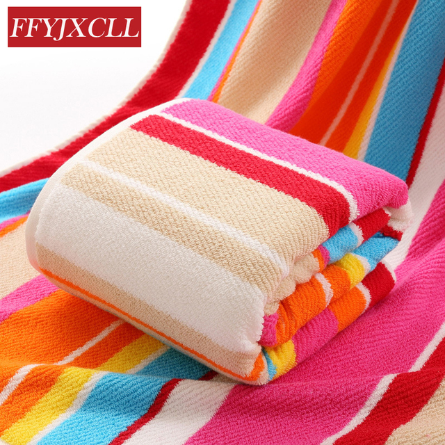 2018 New 100 Cotton 720g Large Size 180 90cm Striped Bath Towel Fabric Solid