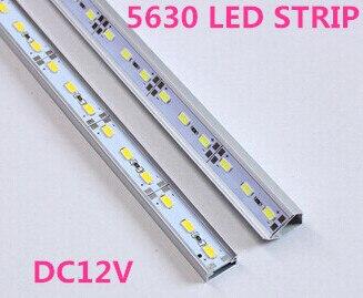 U/V STYLE global free shipping 10pcs/lot 50CM DC 12V 36 SMD 5630 LED Hard Rigid LED Strip Bar Light with Aluminium Alloy Shell