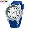 Curren original hombres reloj de cuarzo de silicona de lujo calendario reloj deportivo impermeable relogio masculino 8174