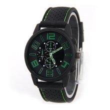 Silicone Band Quartz Wristwatches Simple Men Women Bracelet