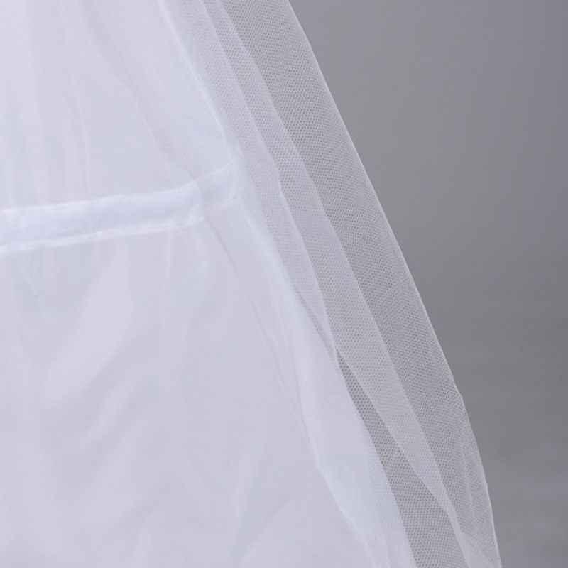 女性ブライダル 3 フープ A ライン床の長さフルスリップペチコート夜会服二層弾性ウエストのウェディングドレスクリノリンアンスコ