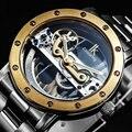 IK Original Tourbillon Reloj Mecánico automático esquelético de los hombres auto-viento relojes de marca de lujo de negocios relojes de Primeras marcas