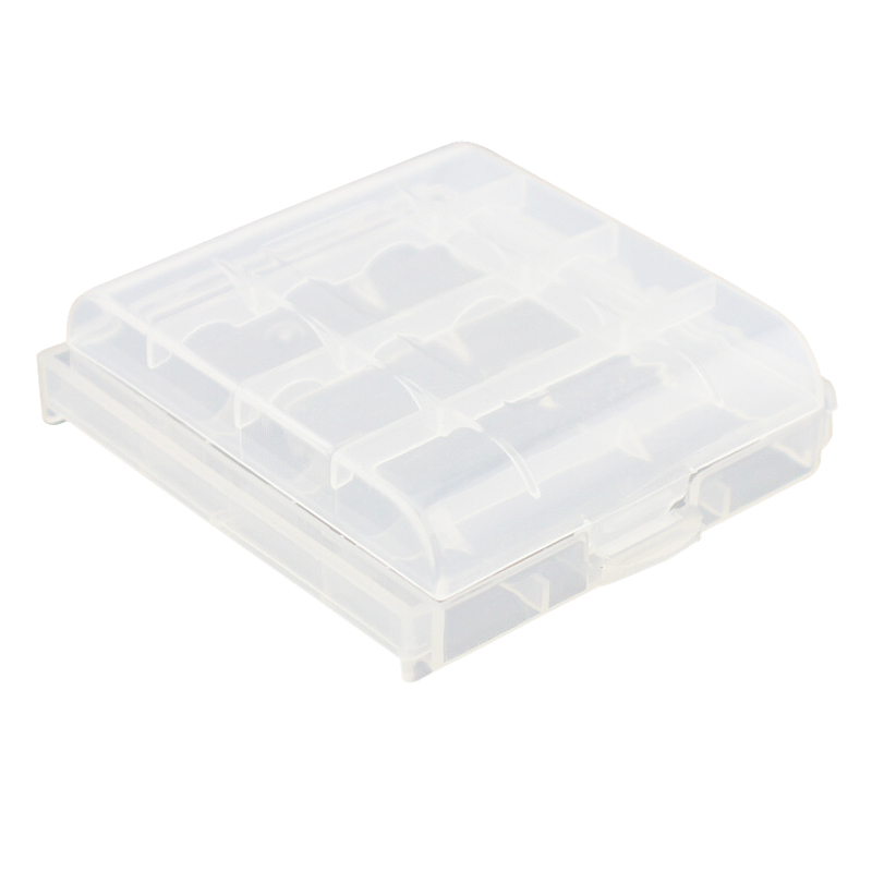 EDT Pack of 9 PCS AA AAA Battery Storage Hard Case Box Clear