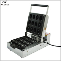 XEOLEO Cake waffle maker 220V/1150W Commercial cake donut waffle making machine Cake maker machine For Tea restaurant 16 Molds