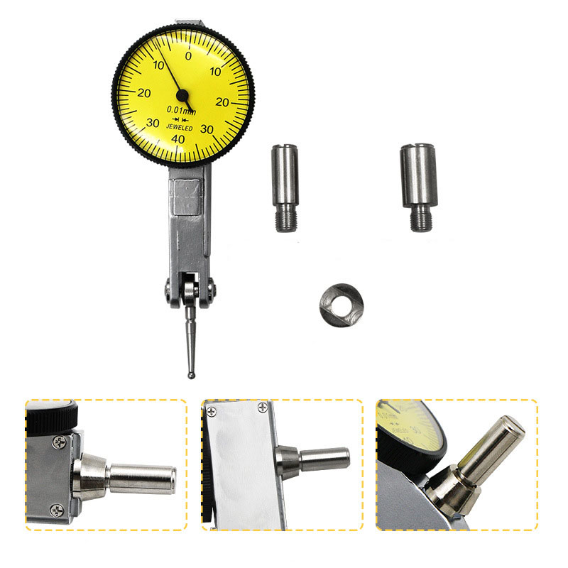 0 0 8mm Dial Test Indicator 0 01mm Dial Indicator Precision Metric with Dovetail Rails Mount Measuring Instrument Tool in Dial Indicators from Tools