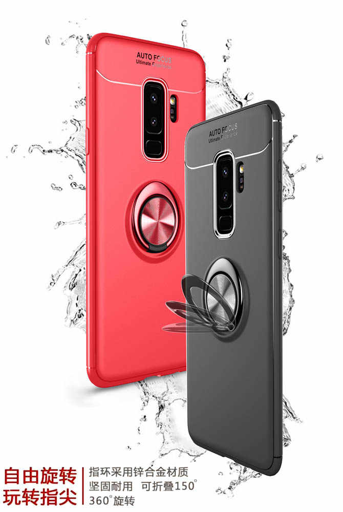 size 40 ff436 6cc74 Soft Silicone Case for Samsung Galaxy S8 S9 + 8S 9S Plus S9Plus Case Ring  Phone Cover for Samsung Galaxy S 8 S 9 Plus TPU Cases
