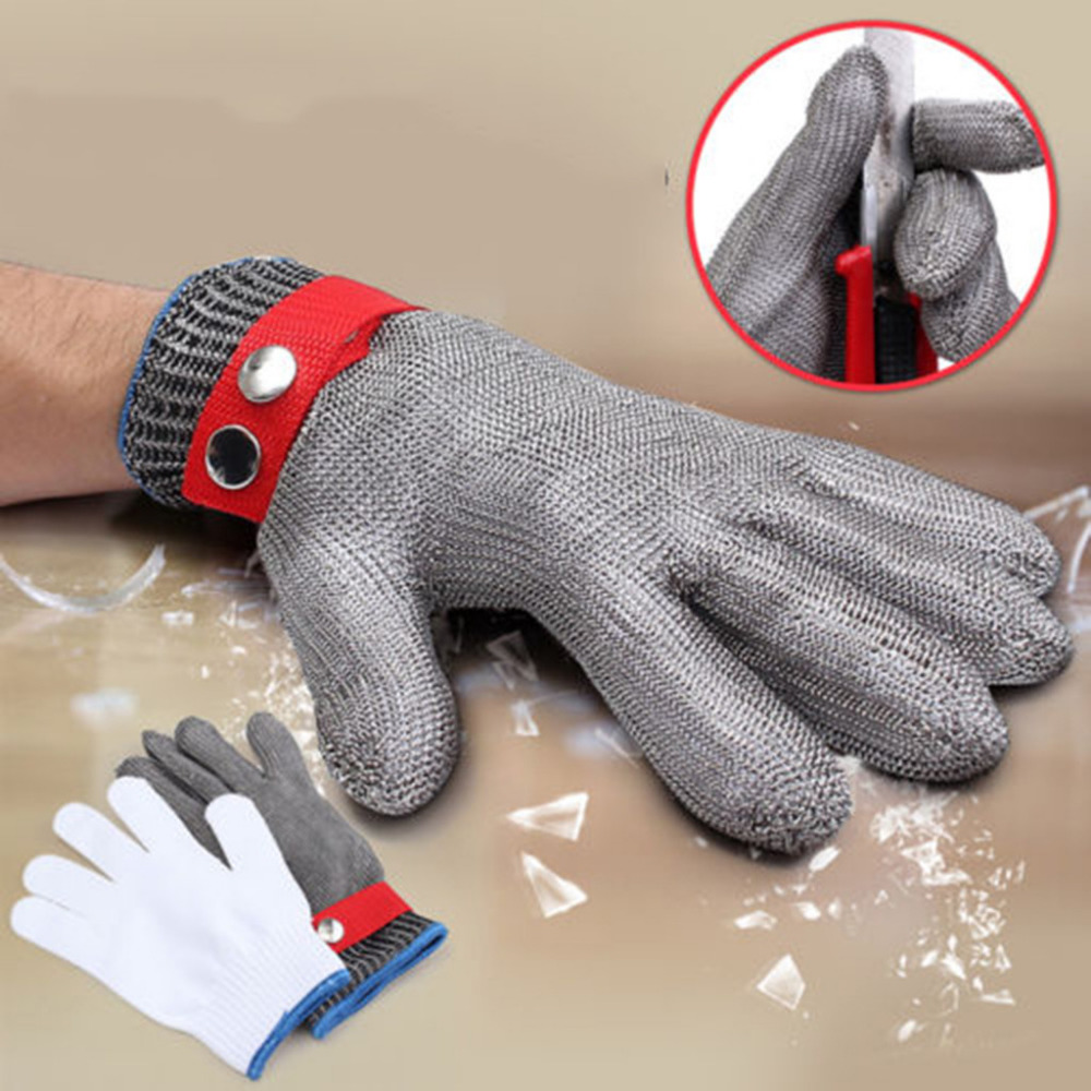 Anti-cut Gloves Safety Cut Proof Stab Resistant Stainless Steel Wire Metal Mesh Kitchen Butcher Cut-Resistant Safety Gloves 15