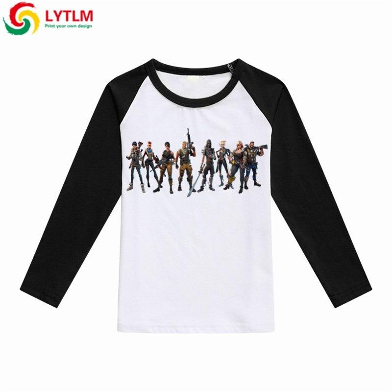 LYTLM Kinder Kleidung junge Fortnited Baby Mädchen T-shirt Roupa Menina Baby Boy Langarm Shirts Gekämmte Baumwolle T Shirt Enfant