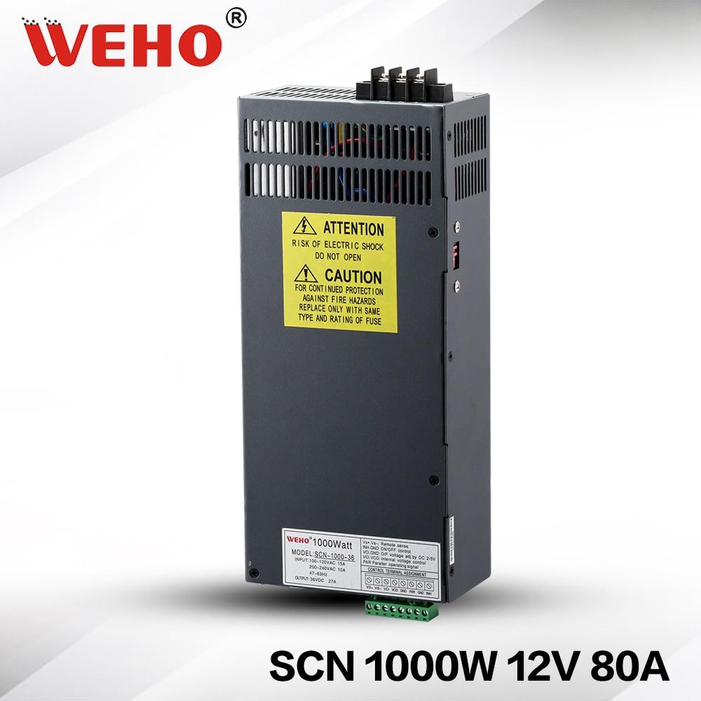 (SCN-1000-12) Non-waterproof 1000w 12v 80a AC DC power converter 12v 1000w smps power supply scn 1000 24 ac dc power converter 24v 1000w dc power supply 24v 1000w