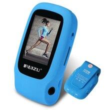 Original RUIZU Nuevo Deporte Mini Clip Reproductor de MP3 de 4 GB De Almacenamiento con 1.5 Pulgadas de Pantalla Puede Jugar 30 Horas Con FM Radio, E-Book, Reloj, Datos