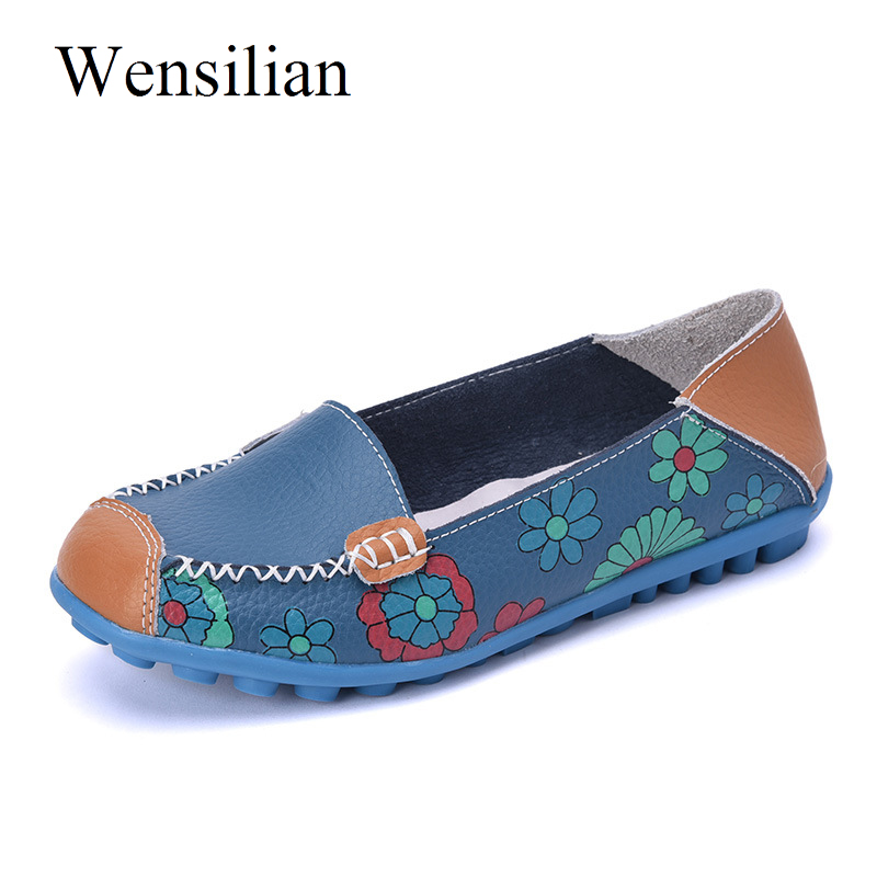 Summer Ballet Flat Shoes Women Anti Slip Flower Loafers Genuine Leather Shoes Women Slip On Soft Folding Flats Zapatos Mujer summer women ballet flats genuine leather shoes ladies soft non slip casual shoes flower slip on loafers moccasins zapatos mujer