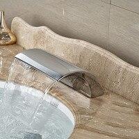 Polished Chrome Deck Mount Waterfall Bathroom Bath Spout Free Shipping WP09