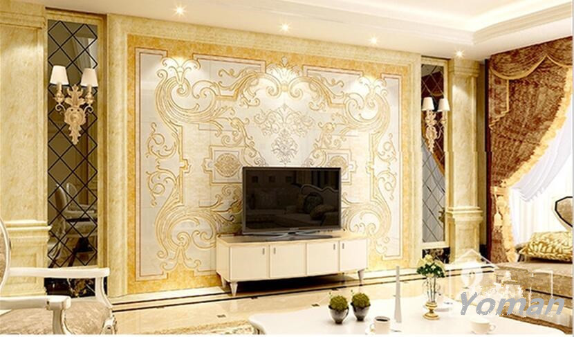 Custom Luxury Photo Wallpaper European Modern Style TV Backdrop for Bedroom Living Room Decor Wholesale Wallpapers on the Wall free shipping custom modern 3d mural bedroom living room tv backdrop wallpaper wallpaper ktv bars statue of liberty in new york