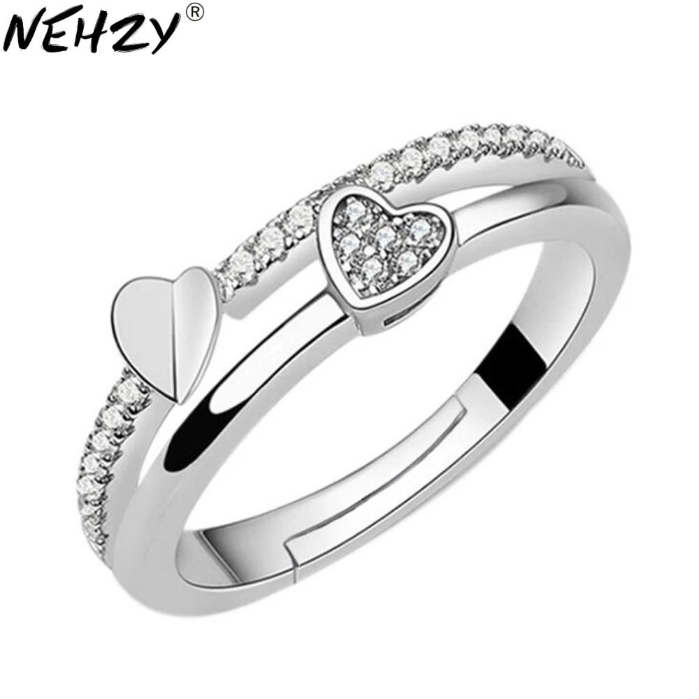 925 Heart Adjustable Ring Sterling Silver