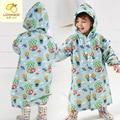 2 ~ 6 años de edad los niños bebé muchacha de los niños boy chaqueta con capucha capa de lluvia poncho impermeable cubierta de dibujos animados globo de impresión recorrido impermeable