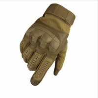 Touch Screen Military Tactical Rubber Hard Knuckle Full Finger Gloves Army Paintball Shooting Airsoft Bicycle PU Leather gloves
