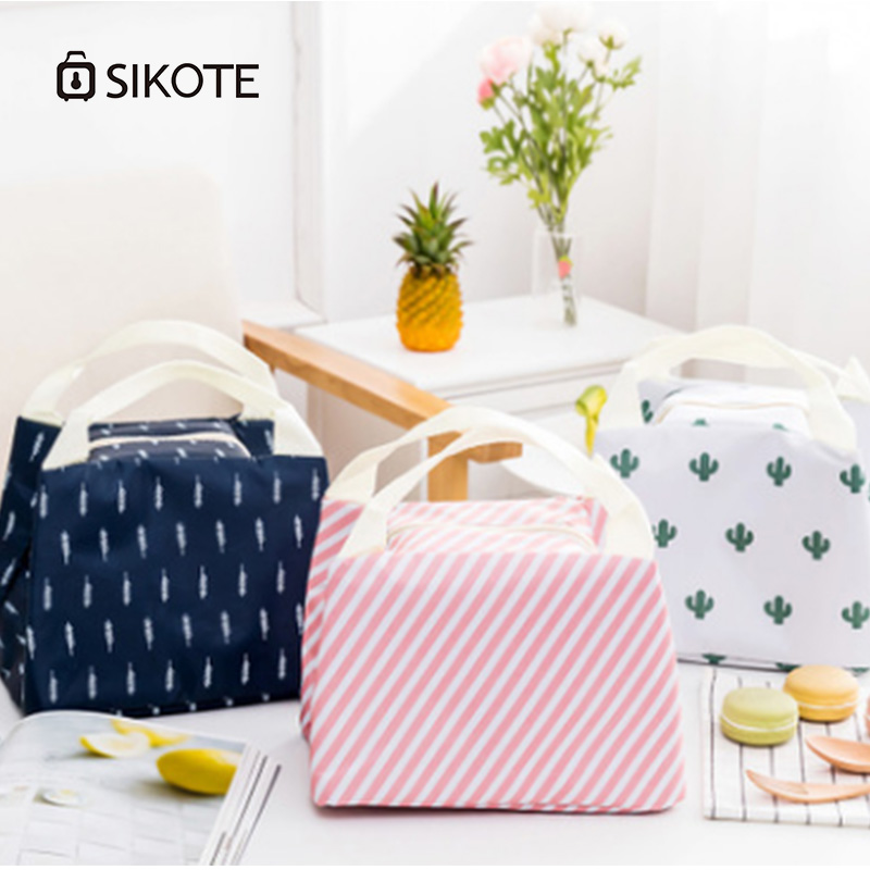 SIKOTE Picnic Lunch Bags Women Lunch Box Cold Preservation Women Men Kids Picnic Lunch Bag Convenient Portable Lunch Box Bags