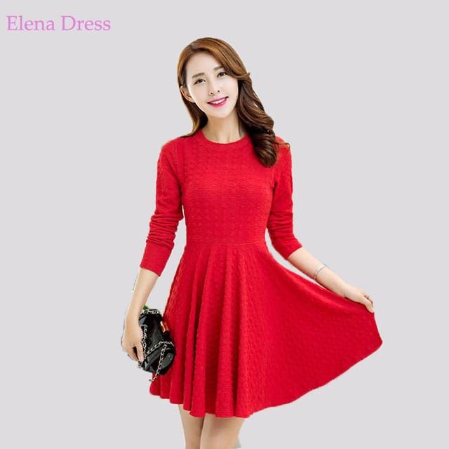 robe patineuse manche longue rouge mod les populaires de robes de soir e. Black Bedroom Furniture Sets. Home Design Ideas