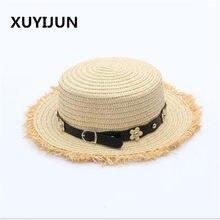 Xuyijun Flat top chapéu de palha do Verão das mulheres da Primavera viagem  tampas de lazer cc06df68ebe